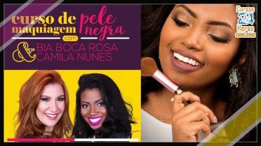 Curso de maquiagem BOCA ROSA PELE NEGRA 3